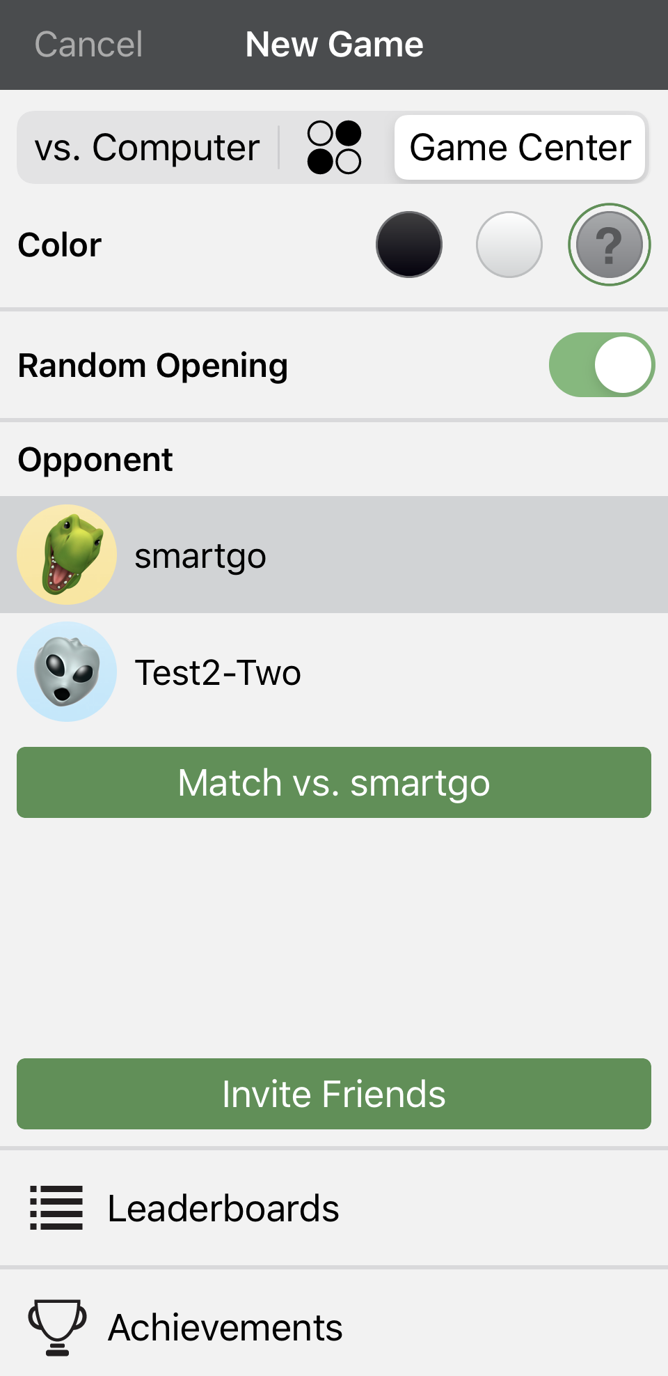 start-game-center-game